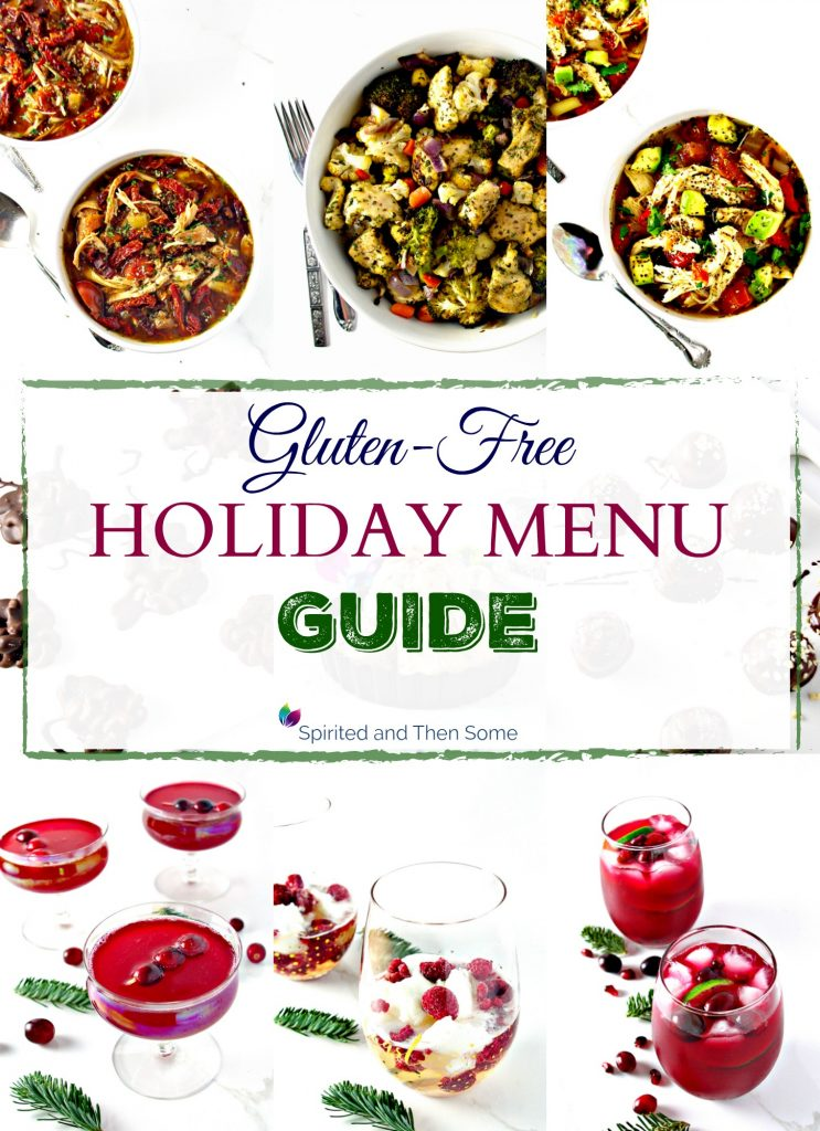 This Gluten-Free Holiday Menu Guide includes over 20 recipes that are gluten-free! Many are also vegan or paleo and several courses, such as main dishes, desserts, and drinks, are included! | spiritedandthensome.com