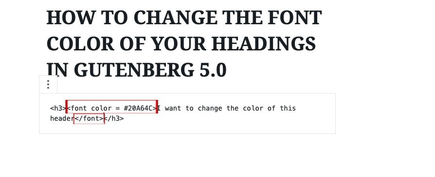 6 - Add a piece of code that tells WordPress the font color to use Gutenberg Editor | spiritedandthensome.com