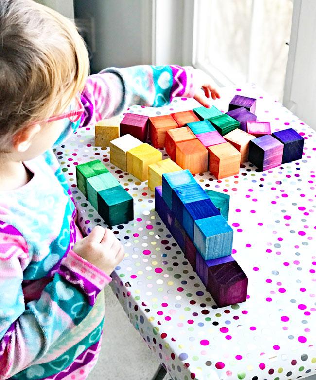 DIY Grimm's Wooden Rainbow Blocks! | spiritedandthensome.com