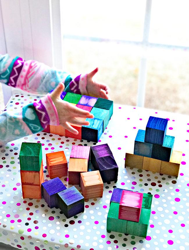 DIY Grimm's Rainbow Blocks! | spiritedandthensome.com