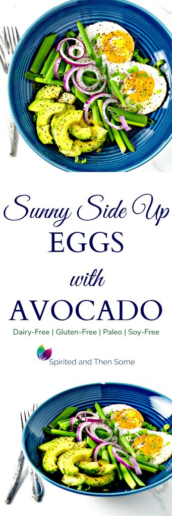 Gluten-Free Sunny Side Up Eggs with Avocado are the perfect breakfast or dinner meal idea! | spiritedandthensome.com