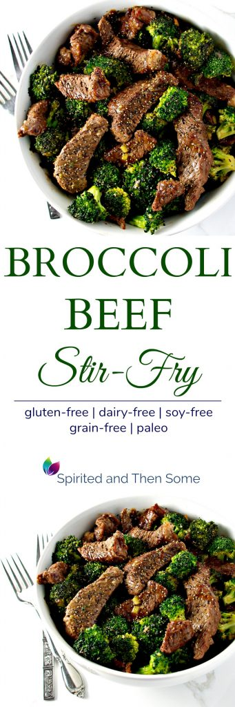 This gluten-free Broccoli Beef Stir-Fry is a deliciously easy paleo dinner recipe the whole family will love! It's also perfect for date night in! | spiritedandthensome.com