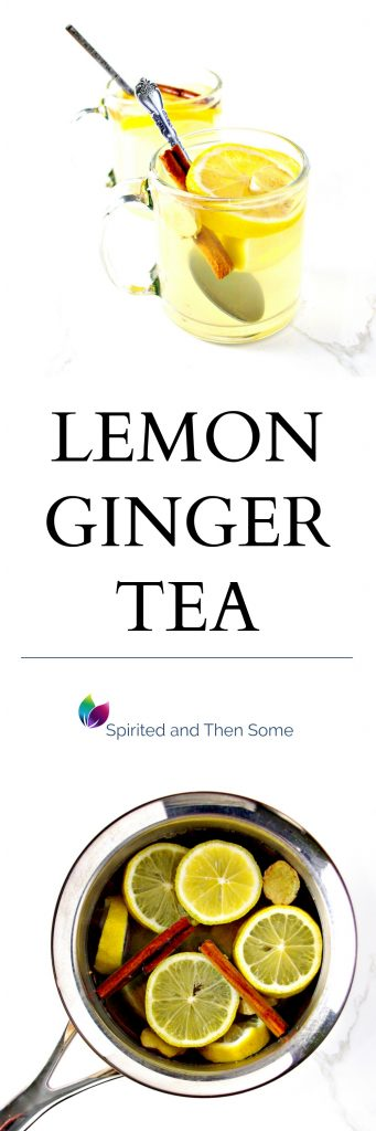 Gluten-free Lemon Ginger Tea is also paleo, contains just 5 ingredients, and is ready in minutes! Warm, comforting, and invigorating! | spiritedandthensome.com