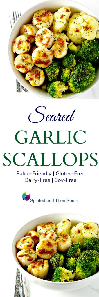 Gluten-free Seared Garlic Scallops are deliciously paleo-friendly, dairy-free, soy-free, and ready in minutes! | spiritedandthensome.com