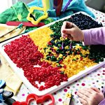 If you are wondering how to dye pasta for sensory play, then this recipe is for you! | spiritedandthensome.com
