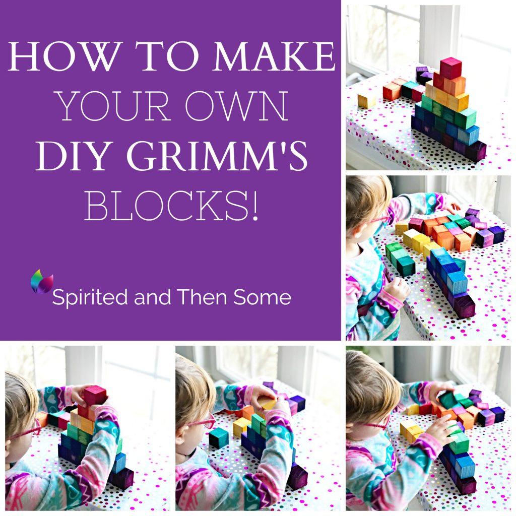 How to make your own DIY Grimm's Blocks tutorial! | spiritedandthensome.com
