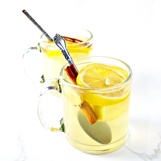 This gluten-free Lemon Ginger Tea recipe is quick and easy and super delicious! | spiritedandthensome.com