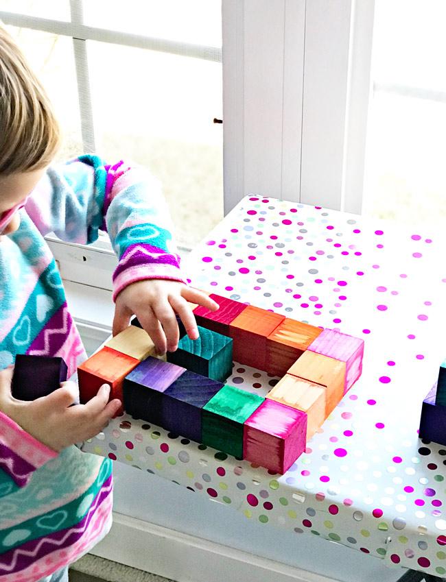 Make your own Grimm's rainbow blocks! | spiritedandthensome.com