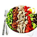Paleo Cobb Salad is a delicious gluten-free salad recipe that is perfect for meal prep! | spiritedandthensome.com