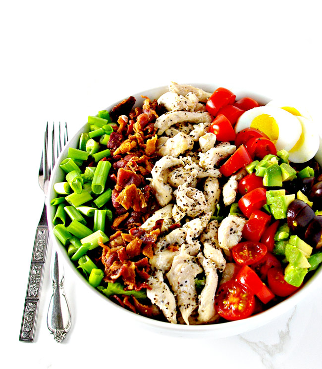 Paleo Cobb Salad is a delicious gluten-free salad recipe! | spiritedandthensome.com