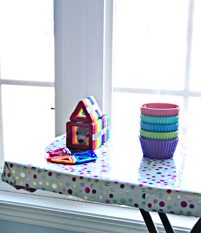 Twinkle created a home for her stuffed animal out of GeoSmart magnetic building blocks! | spiritedandthensome.com