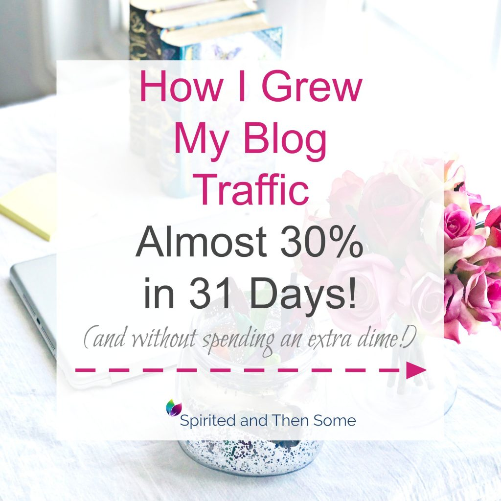 A Pinterest pin about how to grow blog traffic! | spiritedandthensome.com