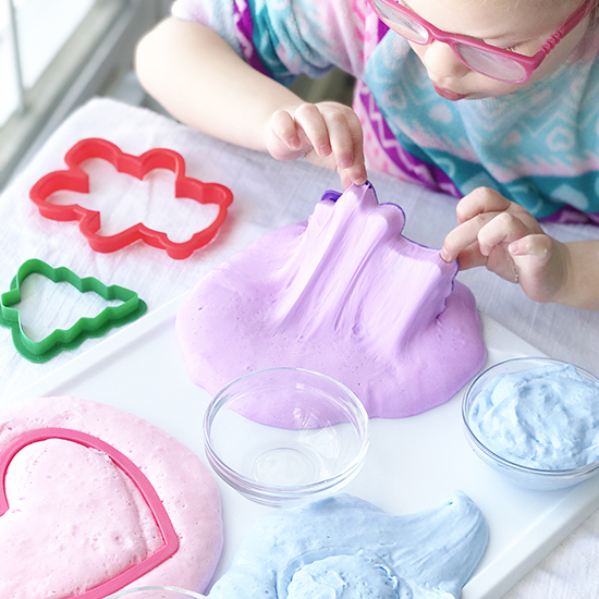 How to make 3-ingredient Fluffy Slime without borax! | spiritedandthensome.com
