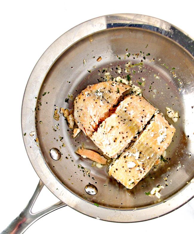 How to make Salmon Avocado Salad! | spiritedandthensome.com