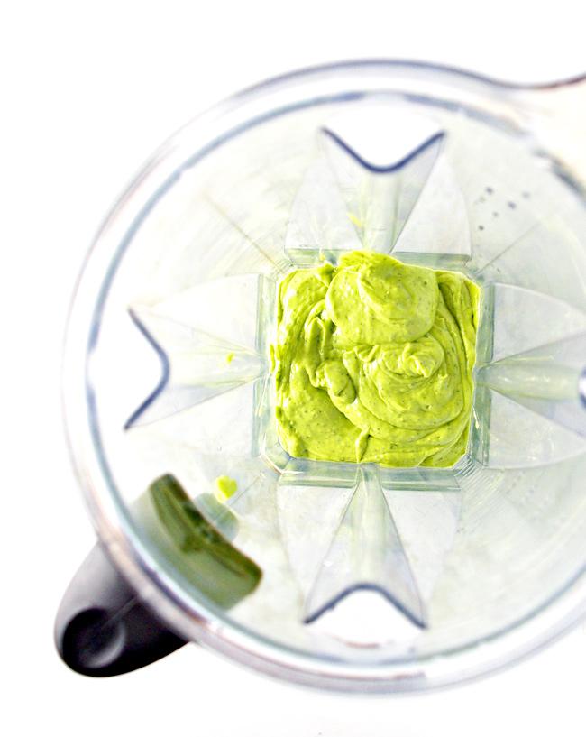 Lemon Avocado Dressing in a Vitamix! | spiritedandthensome.com