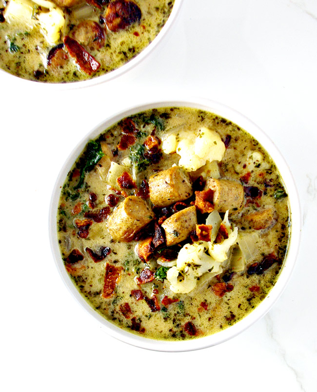 Paleo Zuppa Toscana is a delicious gluten-free comfort food recipe! | spiritedandthensome.com