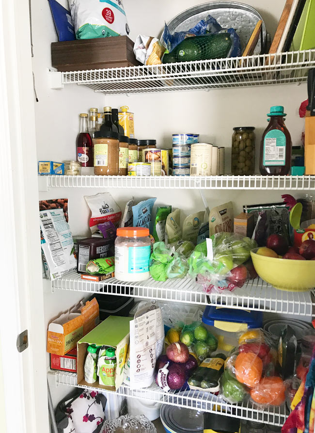 Pantry post-KonMari method with groceries! | spiritedandthensome.com