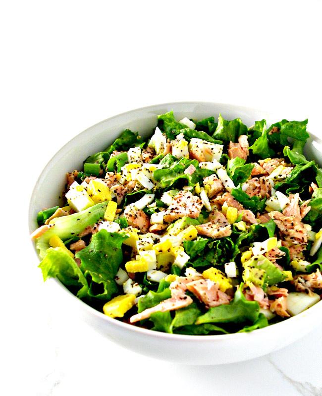 Salmon Avocado Salad is an easy gluten-free meal recipe! | spiritedandthensome.com