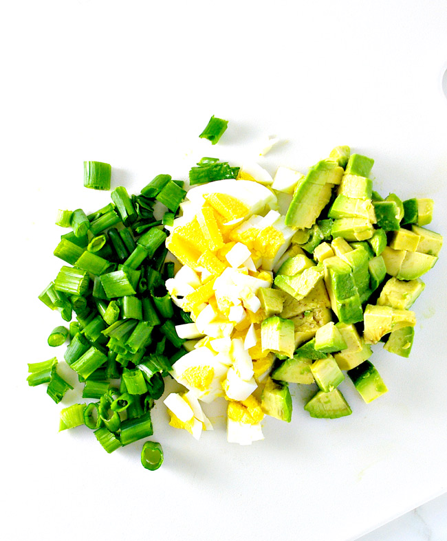 Salad Avocado Salad recipe ingredients! | spiritedandthensome.com