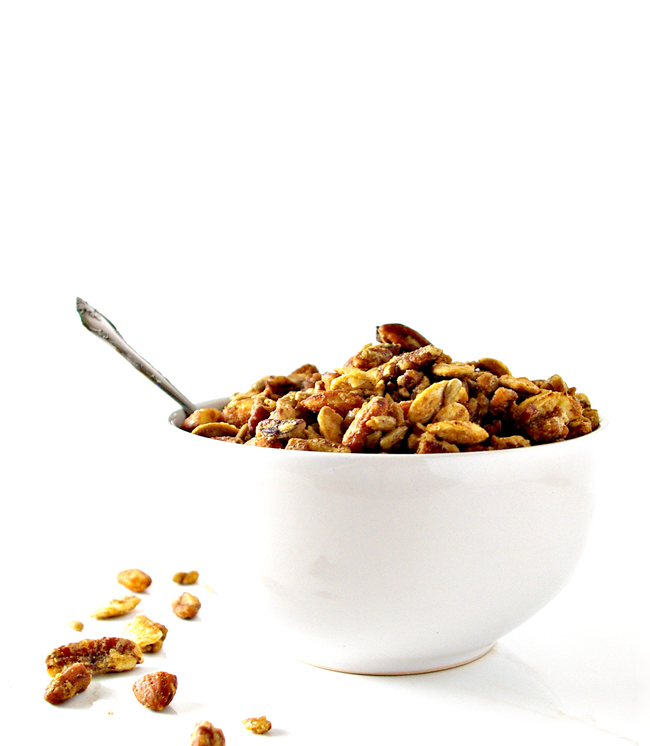 Homemade Paleo Granola made with maple syrup is a delicious vegan recipe! | spiritedandthensome.com