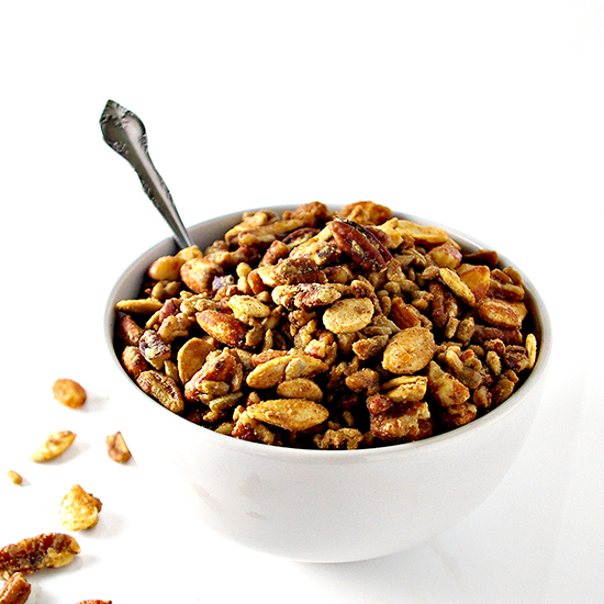 Easy Homemade Paleo Granola made with maple syrup is mouthwateringly good! | spiritedandthensome.com