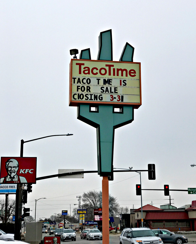 Taco Time in Ames, Iowa closed its doors on March 31, 2019. | spiritedandthensome.com