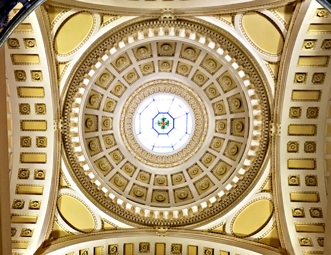 Underneath the dome of Beardshear Hall at Iowa State Univesrity! | spiritedandthensome.com