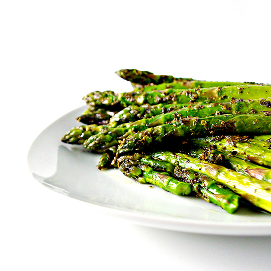 Sautéed Oregano Asparagus is a mouthwatering gluten-free dinner recipe that also happens to be a vegan and paleo side dish! | spiritedandthensome.com
