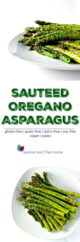 Sautéed Oregano Asparagus is a mouthwatering paleo and vegan side dish recipe! | spiritedandthensome.com