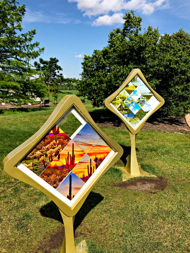 Cube games at Reiman Gardens in Ames, Iowa! | spiritedandthensome.com