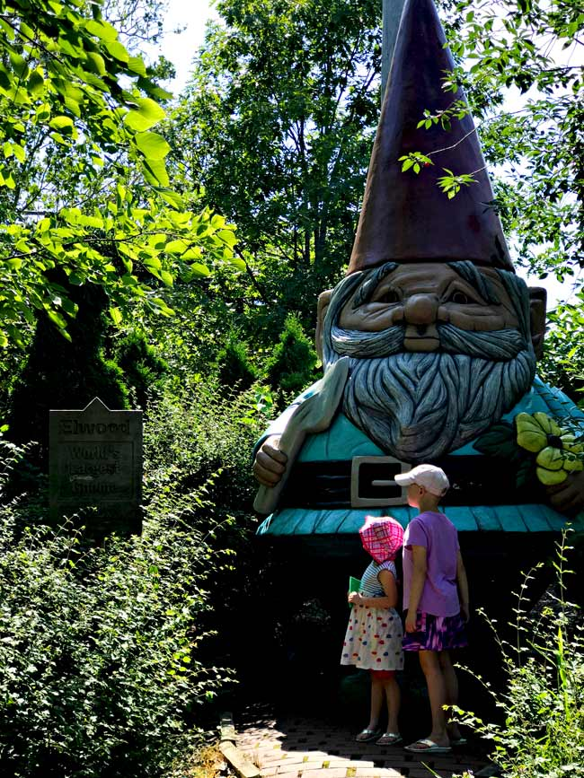 Elwood the World's Largest Concrete Gnome at Reiman Gardens! | spiritedandthensome.com