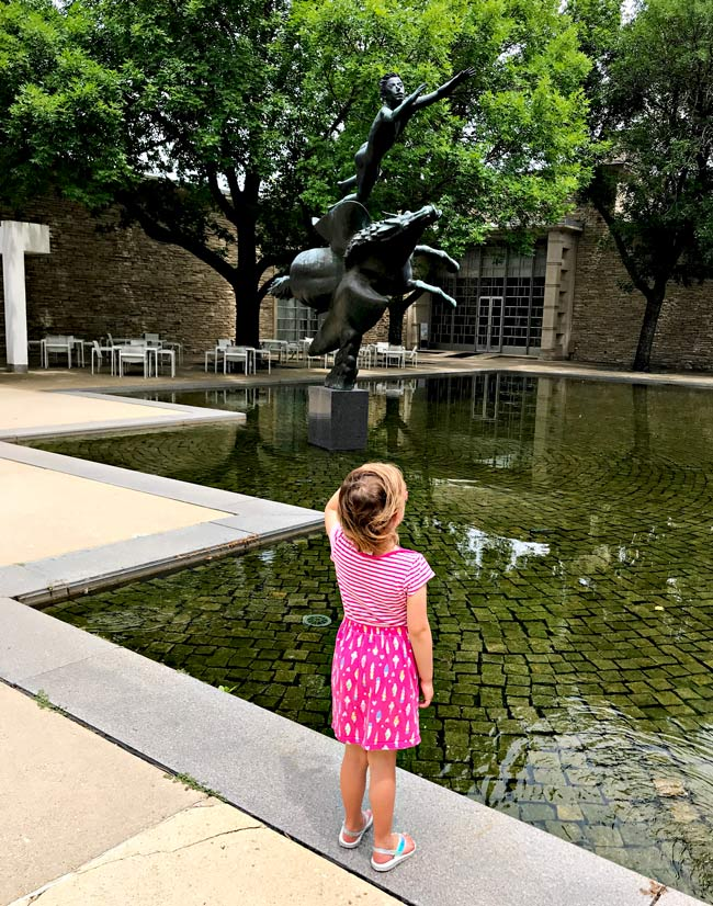 Twinkle at the Reflecting Pool at the Des Moines Art Center! | spiritedandthensome.com