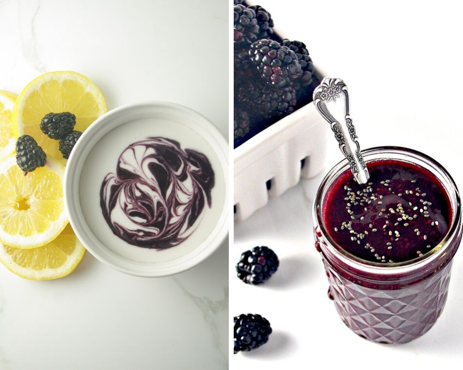 5-Minute Blackberry Sauce Recipe Before and After Photos | spiritedandthensome.com