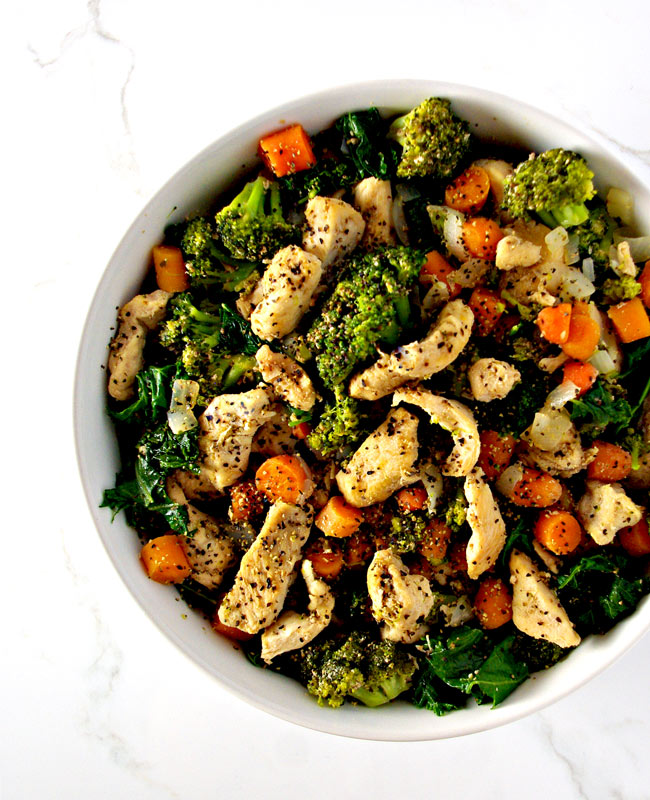 Chicken Kale Stir-Fry is a delicious paleo dinner recipe the whole family can enjoy! | spiritedandthensome.com