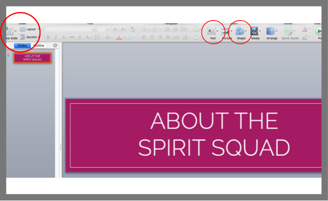 Create a new PowerPoint presentation and make it one slide with a blank design | spiritedandthensome.com
