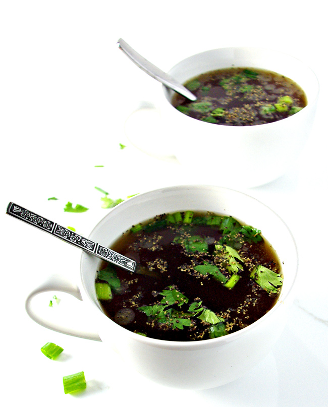 Paleo Homemade Beef Broth is an easy gluten-free recipe to make! | spiritedandthensome.com
