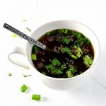 This paleo Homemade Beef Broth recipe is easy to make and customize to your liking! Make several batches using the same soup bones! | spiritedandthensome.com