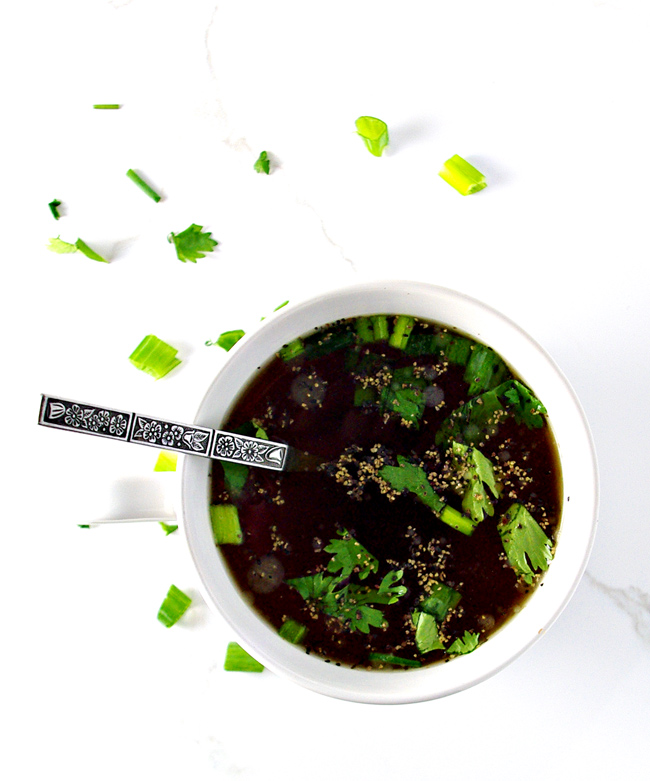 Jazz up your gluten-free Homemade Beef Broth recipe with herbs and seasonings! | spiritedandthensome.com