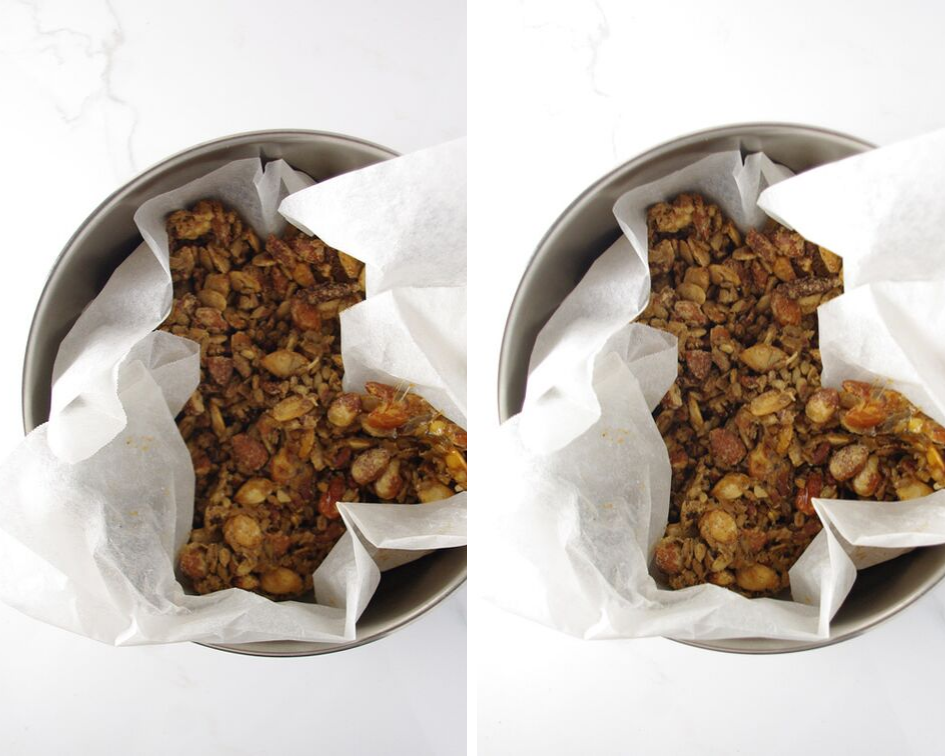 Homemade Paleo Granola Before and After Photos for food photography lighting tips. | spiritedandthensome.com