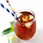 Homemade Pineapple Iced Tea is an easy vegan recipe to prepare! | spiritedandthensome.com