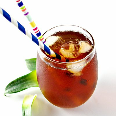 Homemade Pineapple Iced Tea