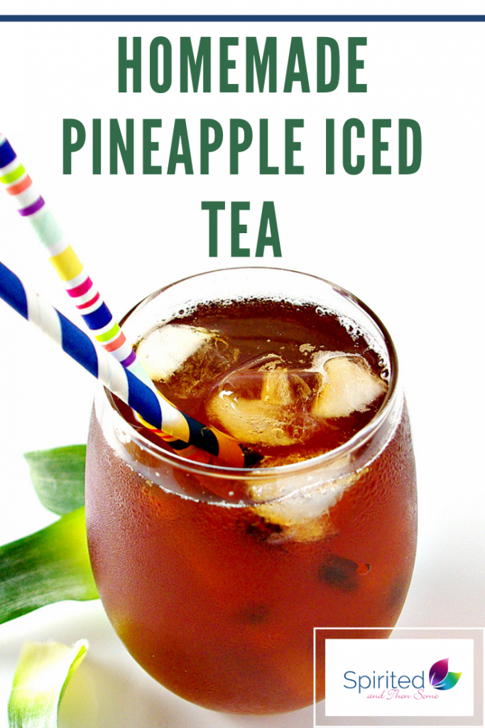 Homemade Pineapple Iced Tea is a delicious vegan recipe! | spiritedandthensome.com
