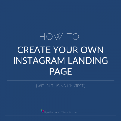 How to Create Your Own Instagram Landing Page (without using LinkTree)
