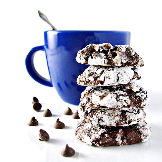 Gluten-free Chocolate Chunk Crinkle Cookies are a delicious grain-free, dairy-free cookie recipe! | spiritedandthensome.com
