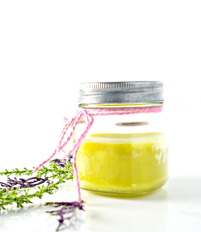 This soy-free Homemade Lavender Body Butter is super-easy to make! It's also the perfect gift for friends and family! | spiritedandthensome.com