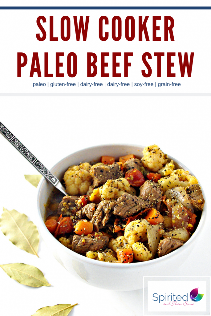 Slow-Cooker Paleo Beef Stew is a delicious healthy comfort food recipe! | spiritedandthensome.com