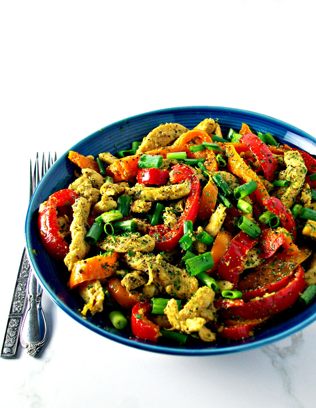 Spicy Chicken Stir-Fry is a mouthwatering, flavorful gluten-free dinner recipe that is easy to throw together! | spiritedandthensome.com