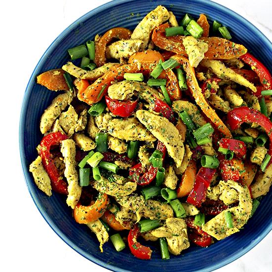 This Spicy Chicken Stir-Fry is a simple chicken stir-fry recipe for lunch or dinner! | spiritedandthensome.com