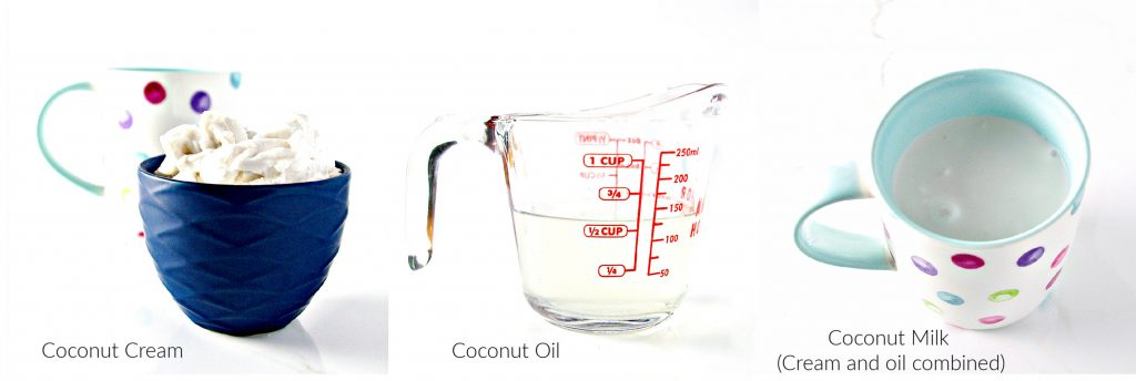 Learn the differences between coconut milk and coconut cream, especially for baking and cooking! | spiritedandthensome.com