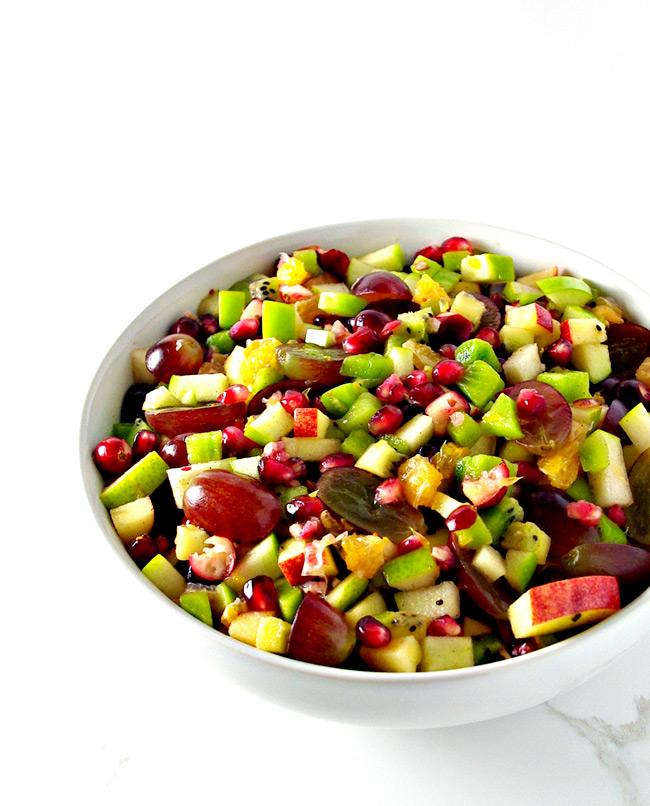 Winter Fruit Salsa is a gluten-free Thanksgiving side dish recipe! | spiritedandthensome.com